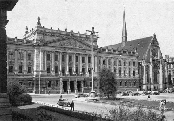 University of Leipzig with St Pauls Church