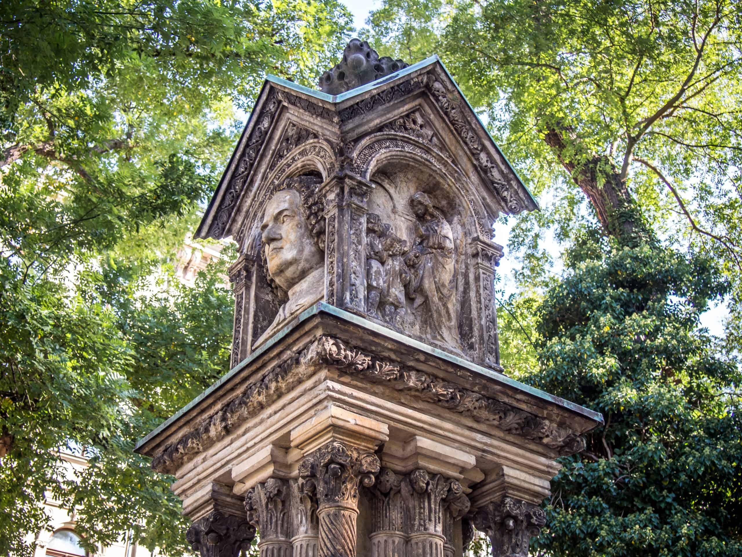 altes Bach Denkmal Leipzig