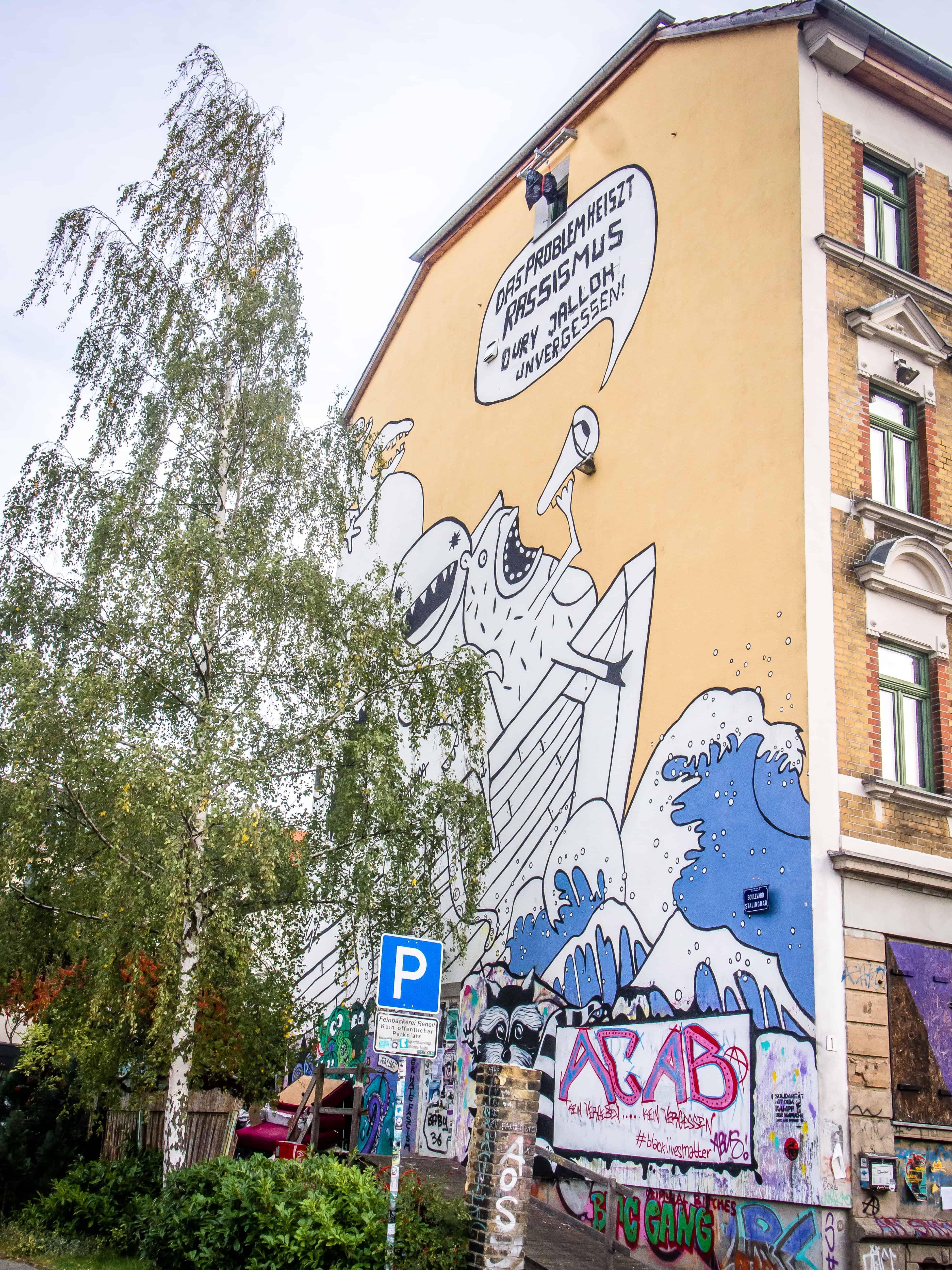 StreetArt Leipzig Doppeldenk www.lei